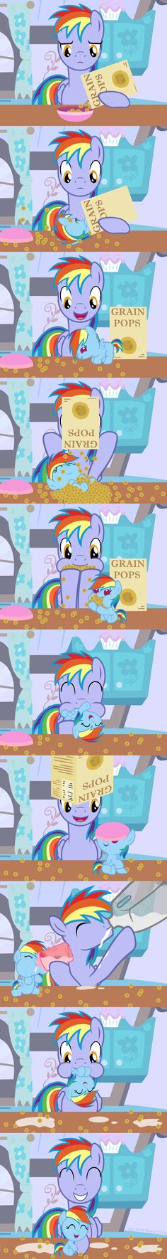 Rainbow Dad's Average Morning by Beavernator.deviantart.com on @deviantART