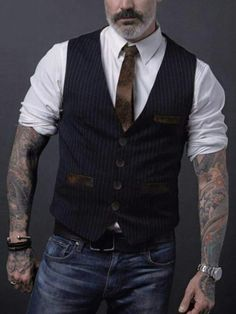 Outfits Casual, Vest Outfits, Winter Stil, Casual Winter, Men's Waistcoat, Waistcoat Men Casual, Mens Formal Vest, Moda Formal, Fashion Business