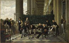 James Tissot (dit), Jacques Joseph (1836-1905) : Le Cercle de la Rue Royale, 1868, huile sur toile