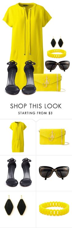 summer in yellow by bb-tka on Polyvore featuring moda, Lands' End, Stuart Weitzman, J.W. Anderson, Forever 21 and Cartier