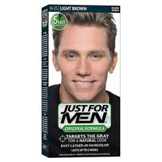 Shampoo In Haircolor Light Brown 25 1 Ea By Just For Men Pack Of 8 Beauty