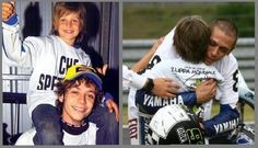 Vale with his brother Luca