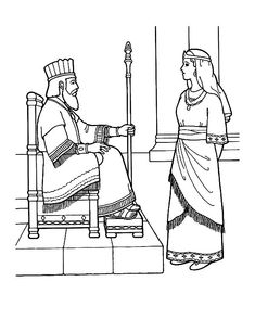 Esther Become King Ahasuerus Queen Coloring Page - NetArt ...