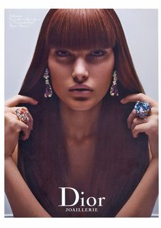 Catherine McNeil for Dior jewelry ss 08 by Mario Testino
