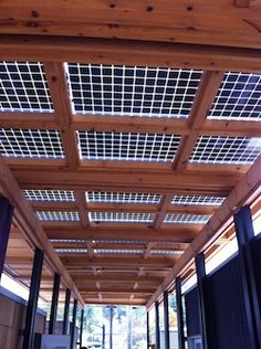 Bifacial photovoltaic modules canopy on the Solar Homestead, the solar decathlon house by Appalachian State University STUDENTS in Boone, NC. Bet they never expected this  NET ZERO ENERGY HOME project would become manufactured by Deltec Homes!