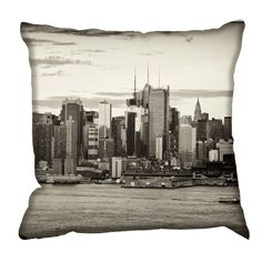 Vintage New York Cushion by Digetex : Wallpaper Direct