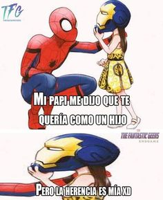 A no ma Memes Marvel, Avengers Memes, Marvel Funny, Marvel Dc Comics, Marvel Avengers, Marvel Universe, Mundo Marvel, Spanish Memes, Book Memes