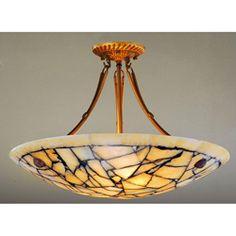 Alabaster Stone Five-light Ceiling Lamp