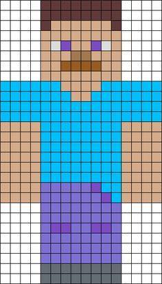 Steve from Minecraft perler bead pattern