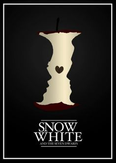 Minimalist Disney Posters: Snow White and the Seven Dwarfs.