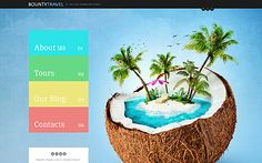 Template 46037 - Travel Responsive Joomla Bootstrap Website Template with Homepage Slider, Portfolio, Blog