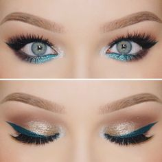 """Teal'tastic » On the brows @anastasiabeverlyhills Brow Wiz and Dip Brow in """"Taupe"""" ∙ @morphebrushes soft mauve/brown shadow in the crease from the 35T palette • @natashadenona """"Industrial"""" eyeshadow on the lid and """"Aluminum"""" on the inner corners ∙ @morphebrushes 35D palette on the lower lashline ∙ @purminerals Double Ego Liner in """"Queensland"""" used for my wing and    >>>>>>@lashesbylena """"Gorgeous"""" Lashes to finish #nikkietutorials<<<<<< (or bev)"""