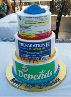 Diaper cake for adults