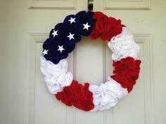 Patriotic Felt Wreath.