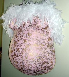 pink wrap with white boa proudbody belly cast