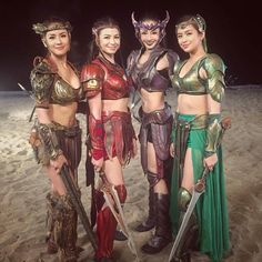 regram @gdc_images #Repost @janicehungwushu : With the gorgeous Sanggres after our last fight One thing I would really miss in Encantadia is our fight scenes. For more Encantadia BTS subscribe to my YouTube Channel. Link on my bio. #encantadia #encantadia2016 #ivoliveencantadia #sanggre #danaya #pirena #bathalumanether #alena #fight #martialarts #kungfu #fightscene #warriors #wushu #wushuqueen #janicehung Encantadia 2016 Costume, Encantadia Costume, Warrior Costume, Costumes, Kung Fu, Cosplay Girls, Martial Arts, Scene, Wonder Woman