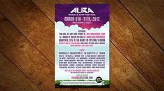 Magazine Ad Design for Client Aura Music & Arts Festival