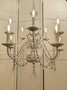 Check out this item in my Etsy shop https://www.etsy.com/listing/508104747/crystal-chandelier-antoinette-shabby
