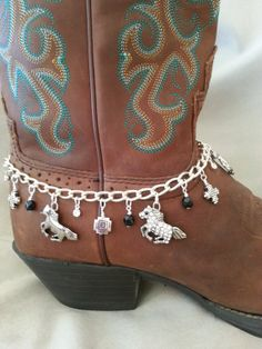 Horses+Boot+Anklet+Bling+by+HowlingWolvesJewelry+on+Etsy,+$34.95