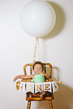 FIRST BIRTHDAY BOY / First birthday highchair banner / One