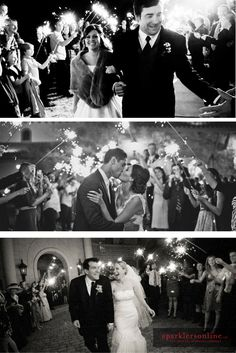 Robbie & I will definitely have sparklers at our wedding  Love the black and white shots! #realbrides