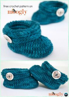 Crochet Ups and Downs Baby Toddler Booties Free Pattern - #Crochet Baby Booties Slippers Free Pattern