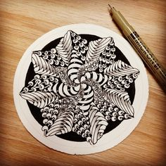 Creating a Zendala is a great way to relax. #zentangle #micron