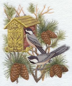 Chickadee Enchantment design (G8643) from www.Emblibrary.com