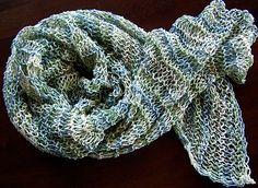 simple scrunchy summer scarf/shawl......fun mindless knitting
