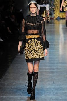 Dolce & Gabbana Fall 2012 RTW - Look 13