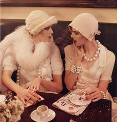 """Flapper romance. This beautiful shoot entitled """"Paris, Je T'aime"""" from the 2007 Vogue September issue was photographed by Steven Meisel and styled by Grace Coddington."""