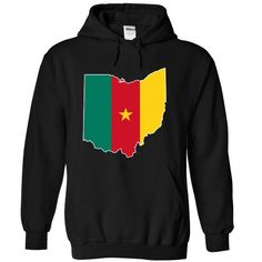Cameroonian in Ohio - #gift for women #husband gift. ADD TO CART => https://www.sunfrog.com/States/Cameroonian-in-Ohio-8160-Black-Hoodie.html?68278