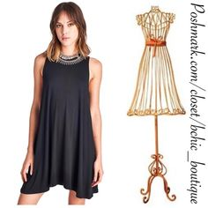 Black Essential Everyday Dress Perfect dress for day or night. A wardrobe essential. Light weight and soft. 95% Rayon   5% spandex April Spirit Dresses