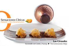 Sensaciones Cítricas • Xoconostle con Canela y Naranja armonizado con tequila Tres Generaciones Anejo y equilibrado con S.Pellegrino.   www.gazzettahedone,mx