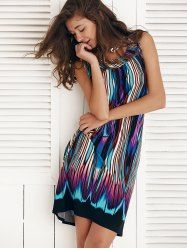 Fashionable Sleeveless Multi Color Shift Dress