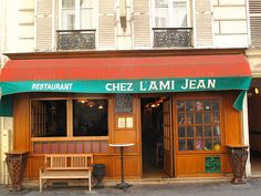 Chez L'Ami Jean, 27 rue Malar 75007 +33-1-47-05-86-89. Lunch & dinner. Closed Sun & Mon