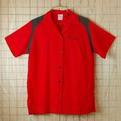 【ビンテージ】古着USA(アメリカ)製半袖レッド(赤)Pros