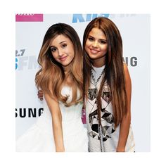 selena and ariana manip Tumblr ❤ liked on Polyvore featuring selena gomez, ariana grande, instagram, manips and selena