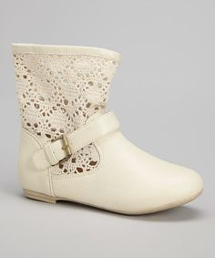 Another great find on #zulily! Natural Crocheted Boot by Simply Petals #zulilyfinds