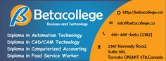 Food Service Worker, Cad Cam, Toronto, College, Technology, Business, Tech, University, Tecnologia