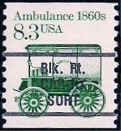 1986 8.3c Ambulance, Coil, Precancelled Scott 2231 Mint F/VF NH  www.saratogatrading.com