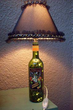Ed Hardy Wine Bottle Lamp with Lamp Shade, $22.00