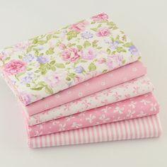5 unids 40 cm * 50 cm de Color Rosa 100% Algodón Trimestre Grasa Tela Para Coser Acolchar Patchwork Tejido Tilda Muñeca Los Niños de tela ropa de Cama Textil