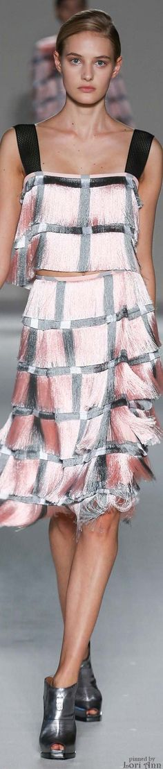 the most amazing fringe ever -- Marco de Vincenzo Spring 2015 RTW