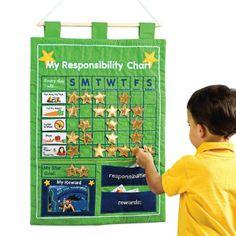 Reward Chart / My Responsibility Fabric Wall Hanging: Amazon.co.uk: Toys & Games