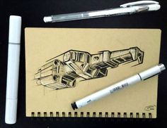 So... Today I was inspired by the Corellian spaceship from star wars, love the design on that one! 😁  #space #spaceship #scifi #starwars #movie #design #entertainment #industrial #conceptart #artist #arthabit #artwork #art #pen #ink #draw #drawings #sketch #sketchbook #sketchaday #pic #everyday #science #illustration #prop #potatoperspective #star #stars