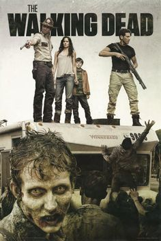 """A fantastic poster from the TV show The Walking Dead! Rick Grimes and company try to put the """"win"""" in Winnebago. Check out the rest of our great selection of Walking Dead posters! Need Poster Mounts. The Walking Dead Saison, The Walking Dead Poster, Walking Dead Tv Show, Walking Dead Zombies, Walking Dead Season, Fear The Walking Dead, Kdrama, Twd Memes, Cinema Tv"""