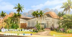 Simsational designs: Butterfly Ranch- A Mid-Century Home • Sims 4 Downloads