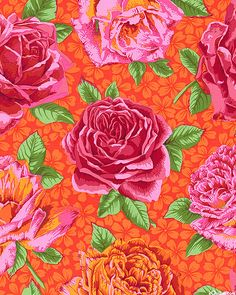 Kaffe Collective - Rose Bloom - Flame Red