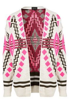 Knitted Aztec Festival Cardi - pink // oh my gosh--aztec AND pink.